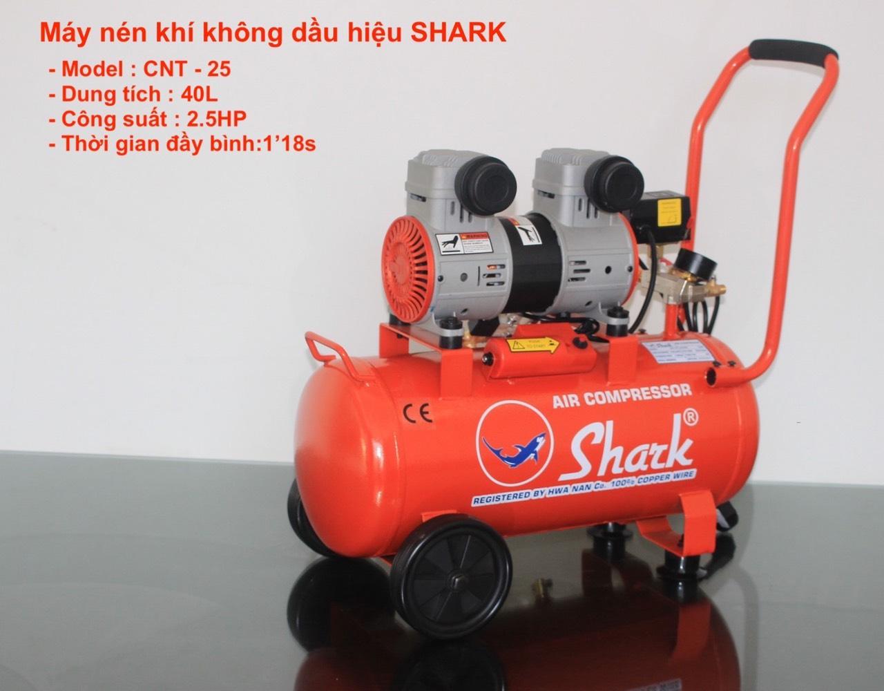 Máy nén khí không dầu SHARK 2HP